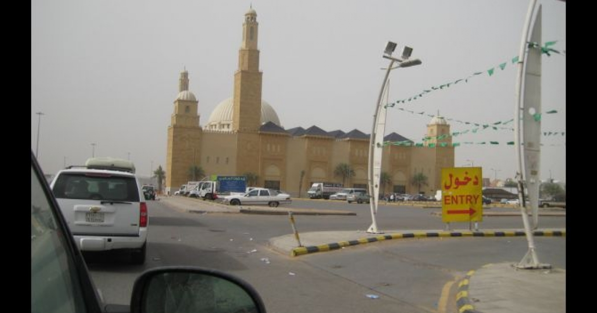 Al-Rajhi Mosque in Riyadh, the site of a small anti-government protest in March 2011 inspired by the Arab Spring movement.</p>