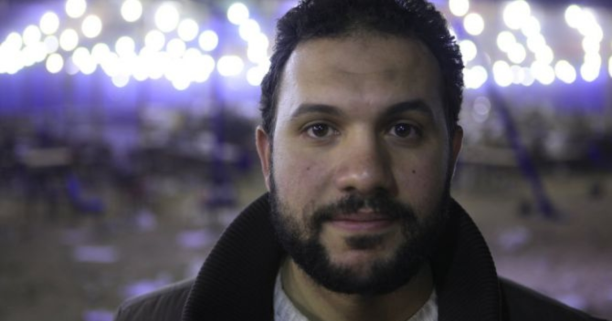 Revolutionary Youth Council leader and Egyptian Current Party leader Mohammed Abbas at a voting station in Giza, Egypt on December 16, 2011.</p>