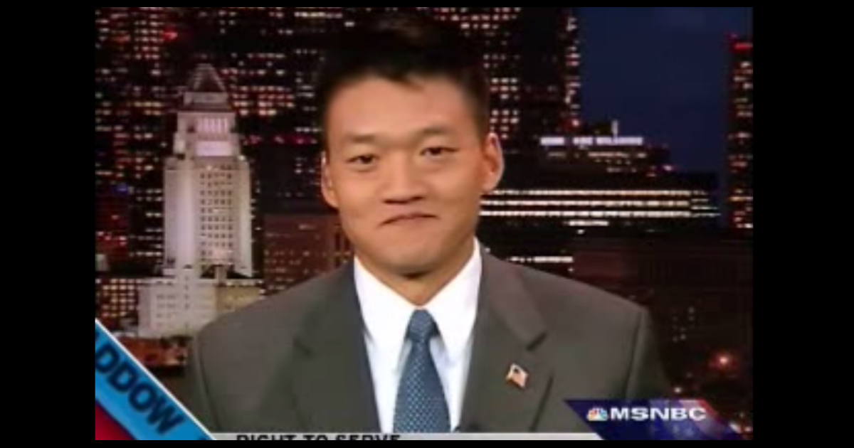Former Army Lt. Dan Choi on MSNBC's The Rachel Maddow Show.</p>