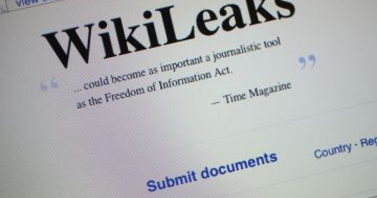 The homepage of the WikiLeaks.org website is seen on a computer after leaked classified military documents were posted to it July 26, 2010. WikiLeaks, an organization based in Sweden which publishes anonymous submissions of sensitive documents from governments and other organizations, released some 91,000 classified documents that span the past six years of U.S. combat operations in the war Afghanistan. </p>
