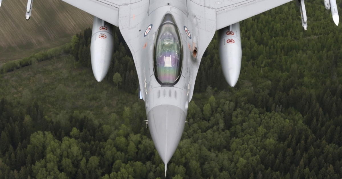 Norwegian plane on NATO mission