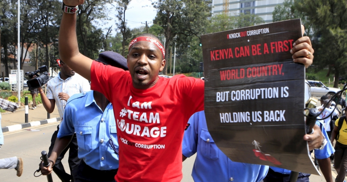 """kenyan corruption Kenyans have talked about corruption for years kenyans know it is undermining the country's prosperity, security, development, and even democracy in a recent pew research center survey, 91 percent of kenyans called government corruption a """"very big problem""""."""