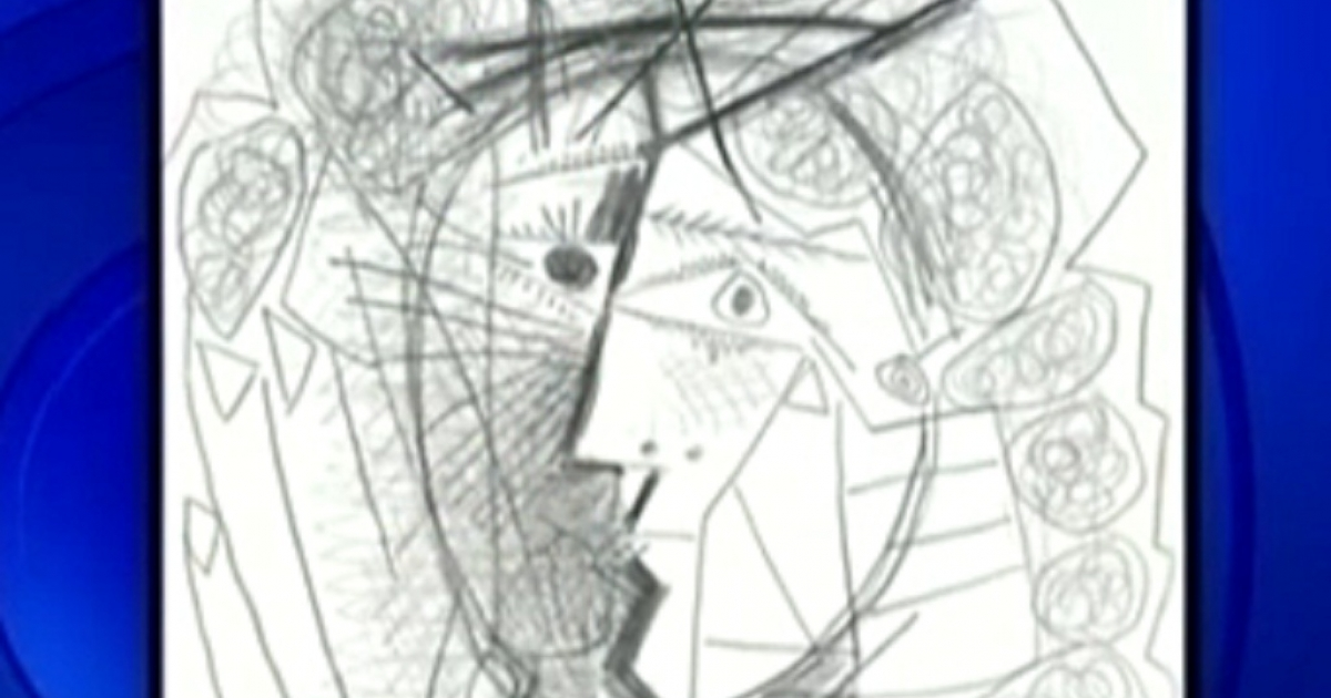 A 1965 Picasso pencil drawing, entitled