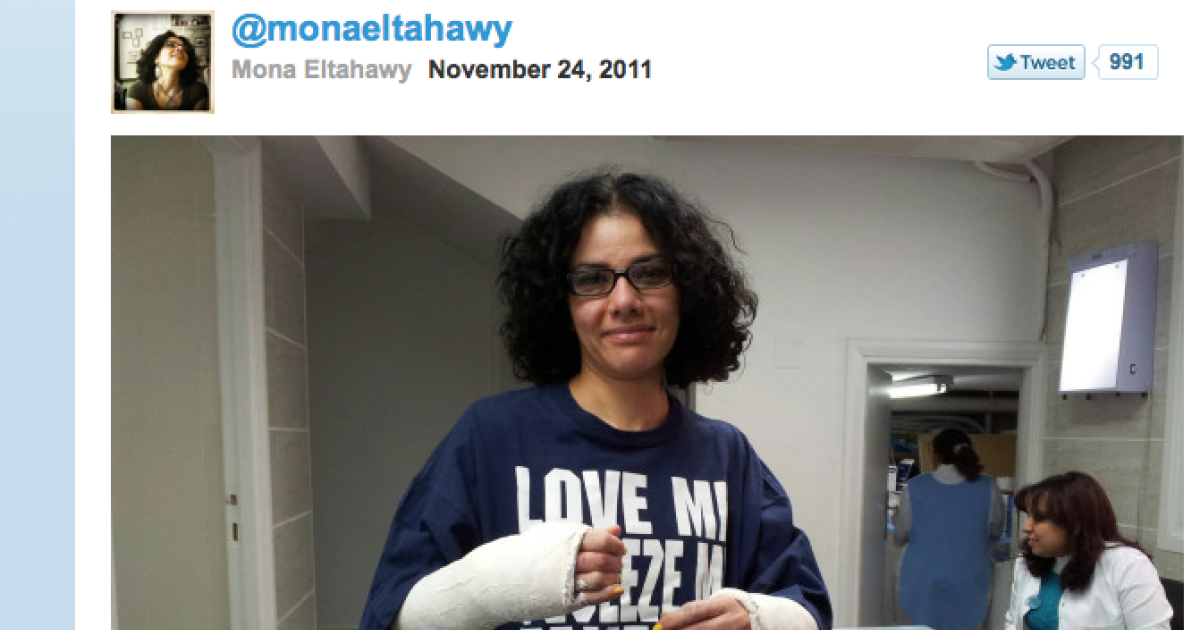 Egyptian-American journalist Mona Eltahawy tweeted this photo after her 12-hour detention in a Cairo military prison.</p>