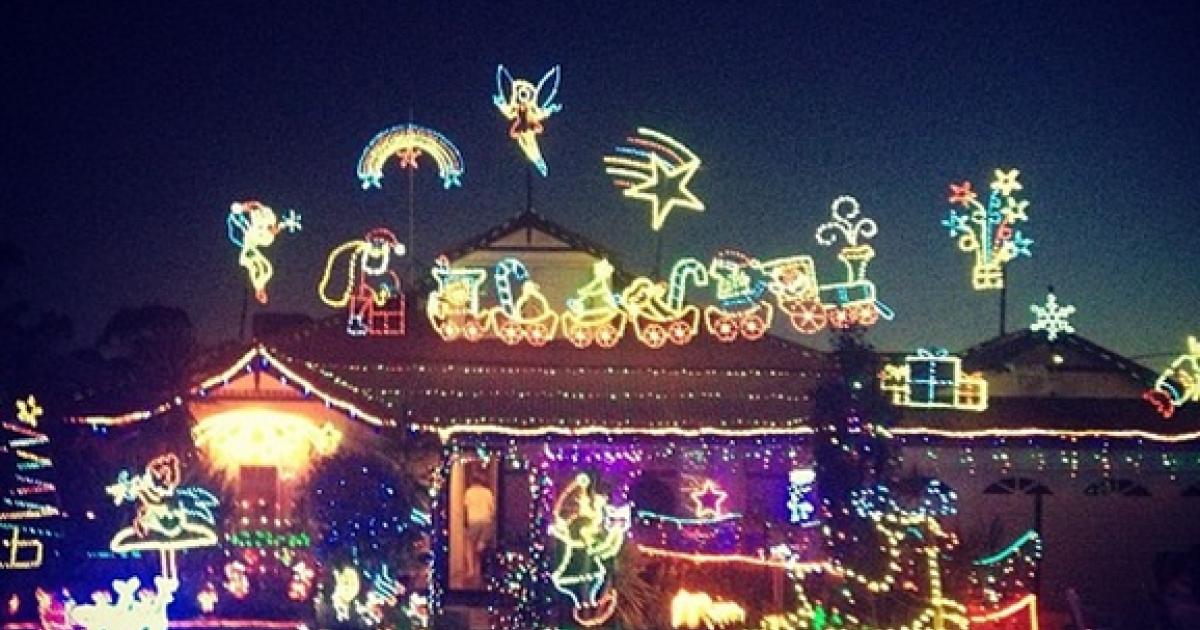 One of the crazy Christmas houses found via Instagram.</p>