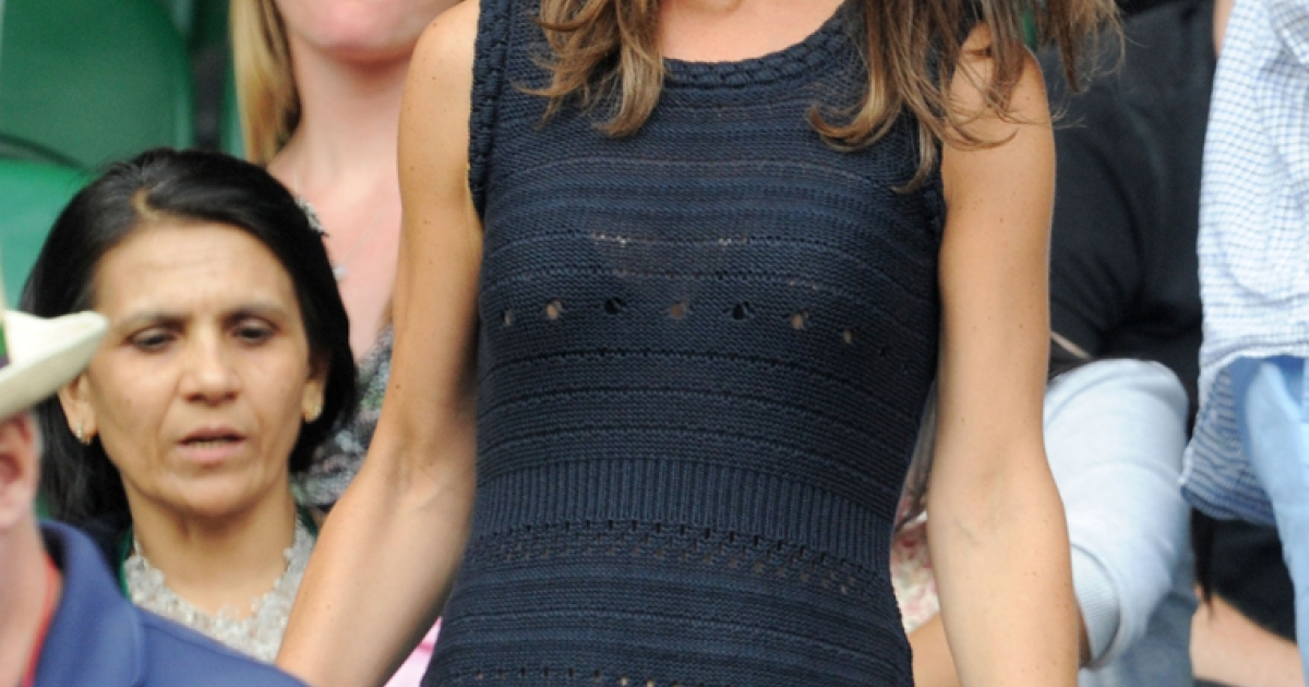 Pippa Middleton attends the semifinal round match between Andy Murray of Great Britain and Rafael Nadal of Spain on Day Eleven of the Wimbledon Lawn Tennis Championships at the All England Lawn Tennis and Croquet Club on July 1, 2011 in London, England. Pippa is reportedly considering a move to New York ahead of her book's release in October.</p>