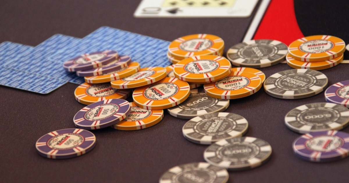 Chips of a competitor of the World Series of Poker Europe (WSOPE) tournament are pictured during the event on October 18, 2011 in Cannes, southern France.</p>