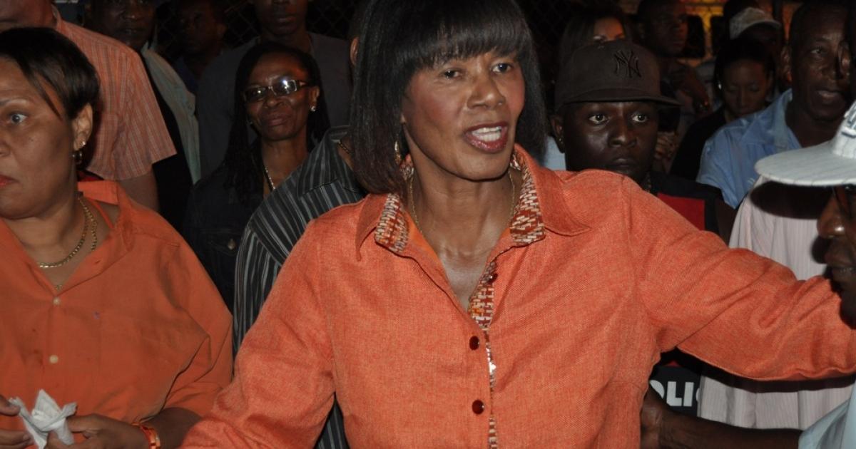 Portia Simpson Miller in Kingston, Jamaica, on Dec. 28, 2011.</p>