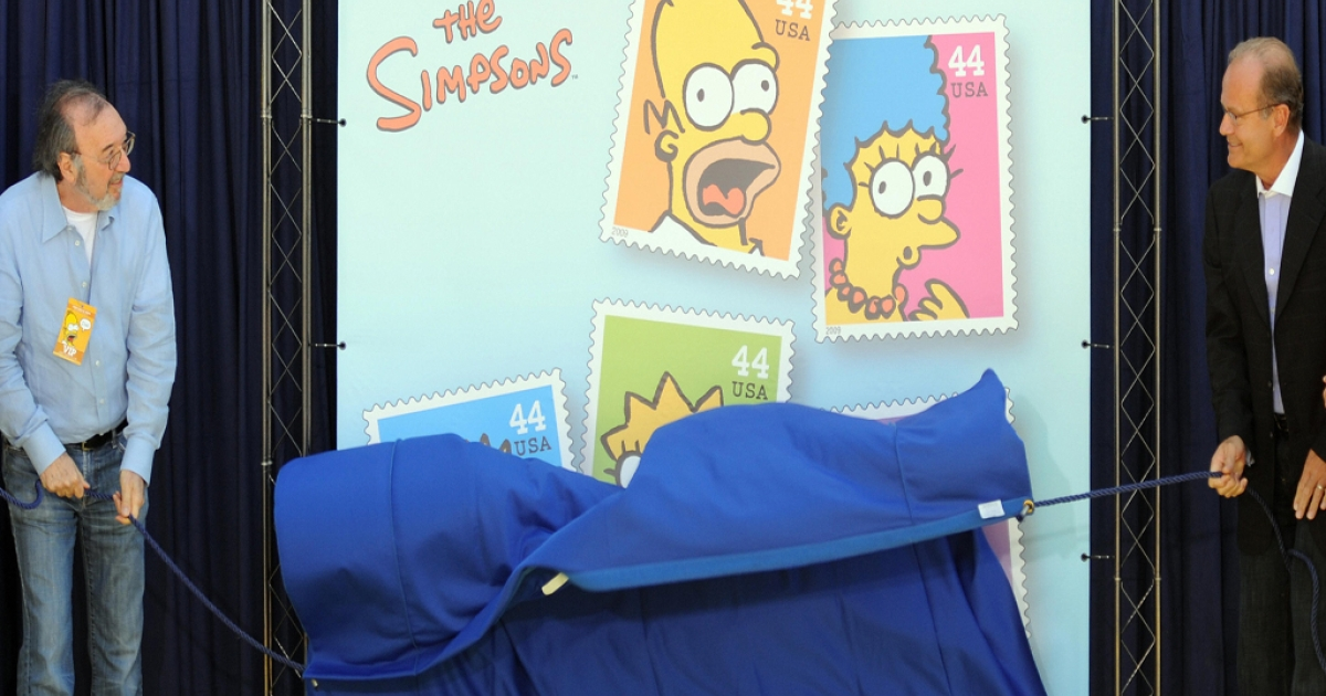 The Post Office ordered 1 billion of the 44 cent commemorative 'Simpsons' stamps. More than 600 million sit unsold as the price of a stamp jumped to 45 cents last year.</p>