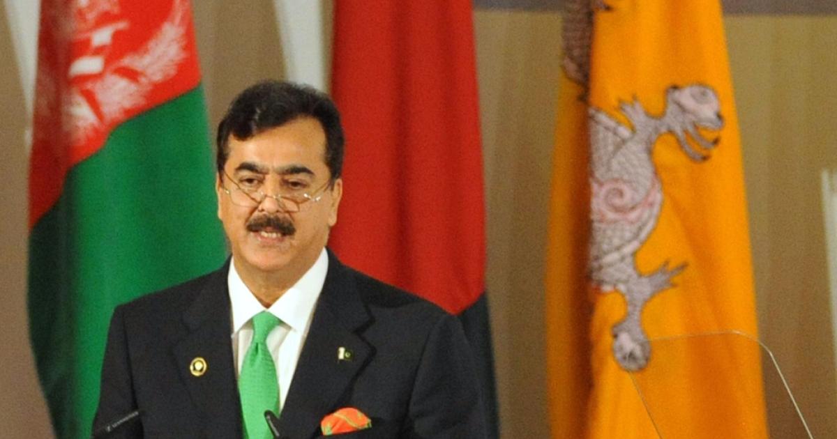 Pakistani Prime Minister Yusuf Raza Gilani AFP PHOTO/RAVEENDRAN</p>