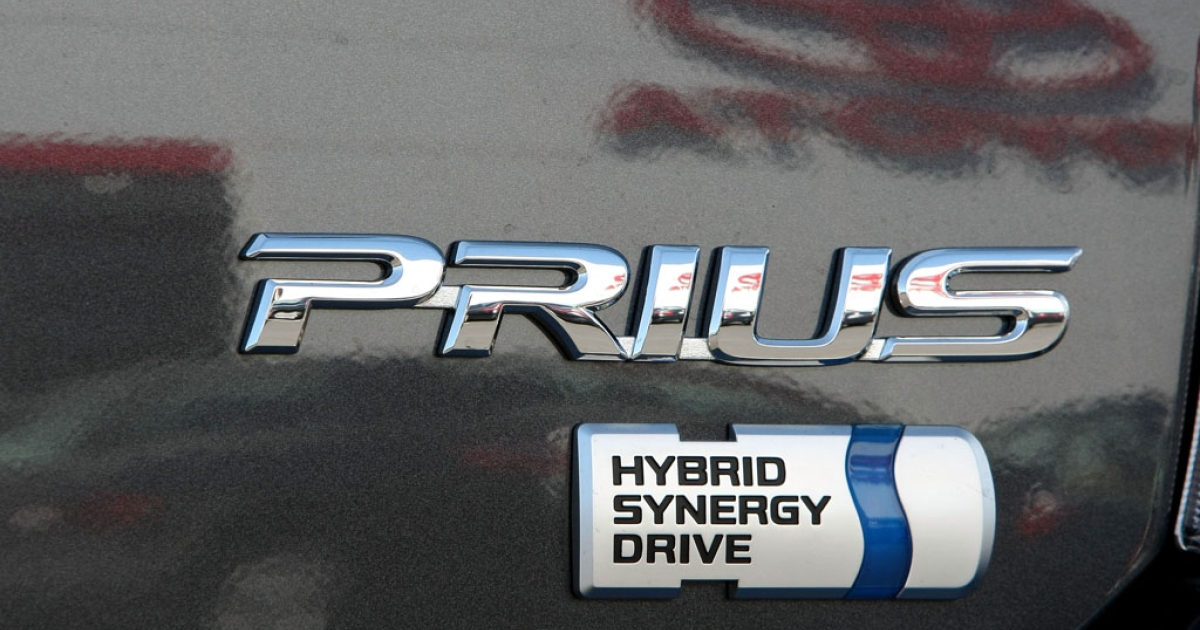 A new Toyota Prius hybrid car sits on display at Marin Toyota on March 20, 2009, in San Rafael, California.</p>