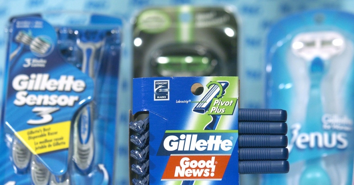 Gillette razors are among the many household products made by Procter &amp; Gamble.</p>