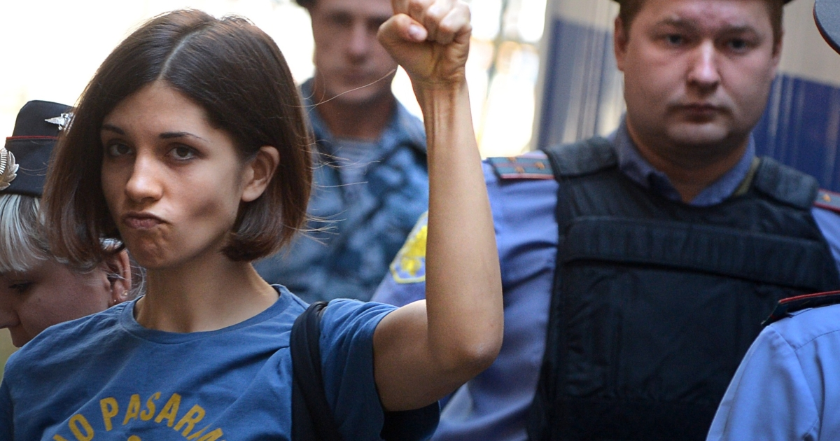 Pussy Riot's Nadezhda Tolokonnikova has resurfaced weeks after she disappeared into Russia's prison system. She is now being held at a Siberian prison hospital.</p>
