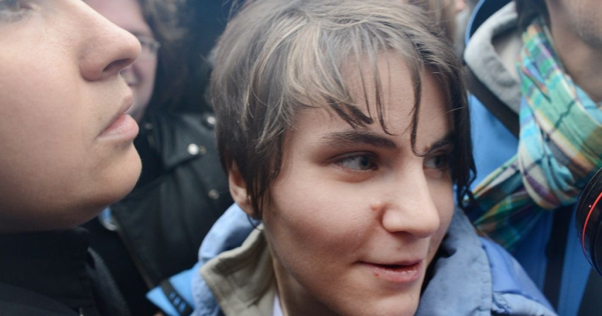 Yekaterina Samutsevich walks free after judges in Moscow suspended her sentence for