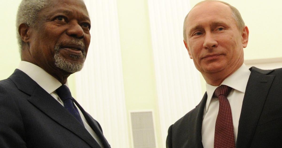 Russian President Vladimir Putin rebuffed UN envoy Kofi Annan's effort to find compromise on Syria earlier this week.</p>
