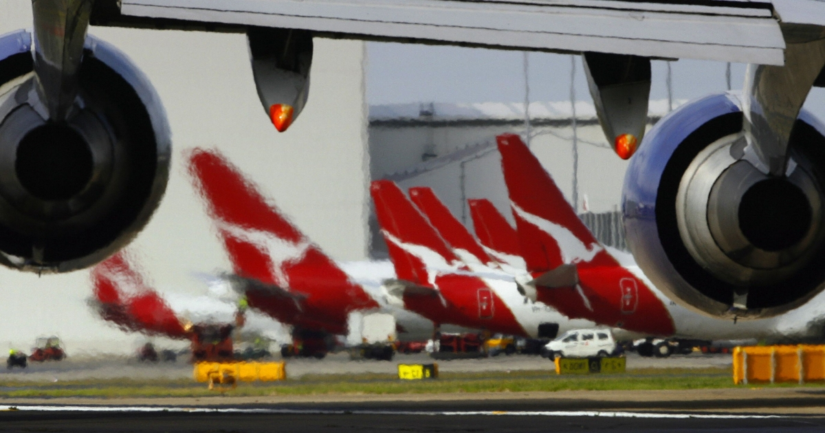 Qantas planes, with flying kangaroo tailfins, line Sydney airport — more so now that pilots and engineers are striking.</p>