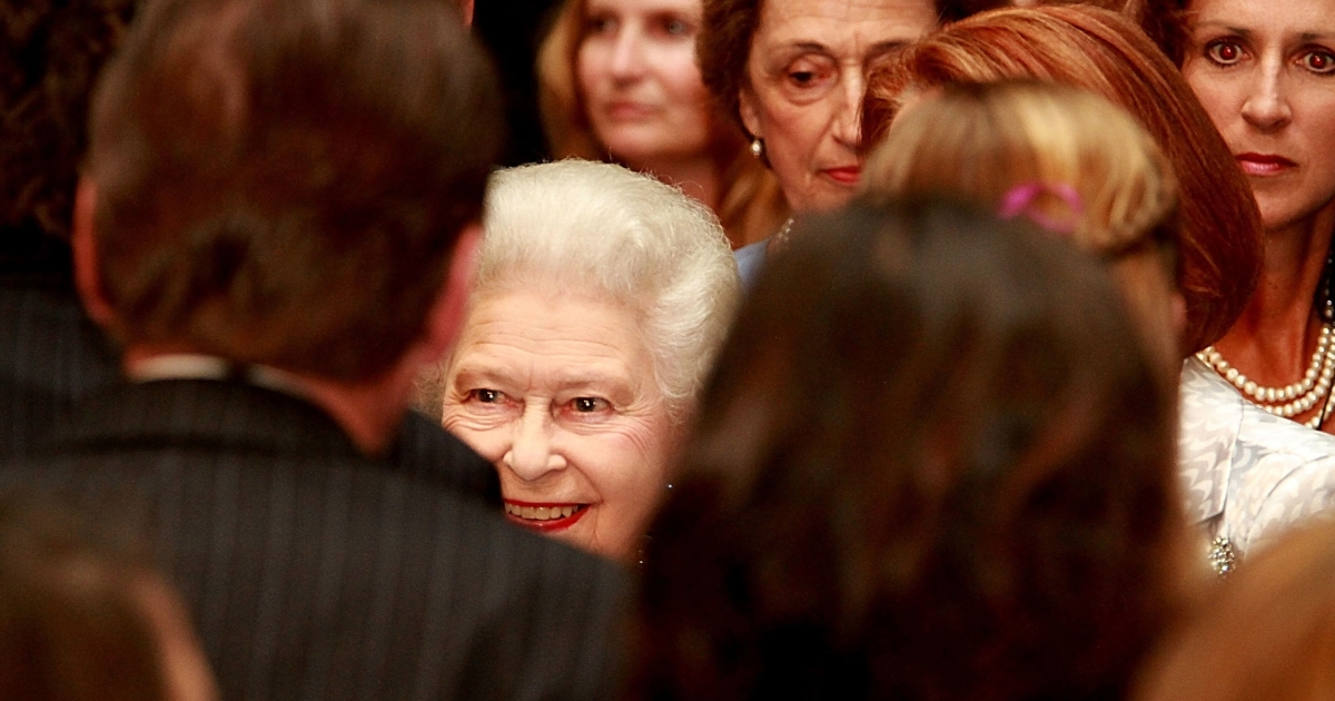 Queen Elizabeth II, meets the crowd at a reception at Parliament House on Oct. 21, 2011 in Canberra, Australia.</p>