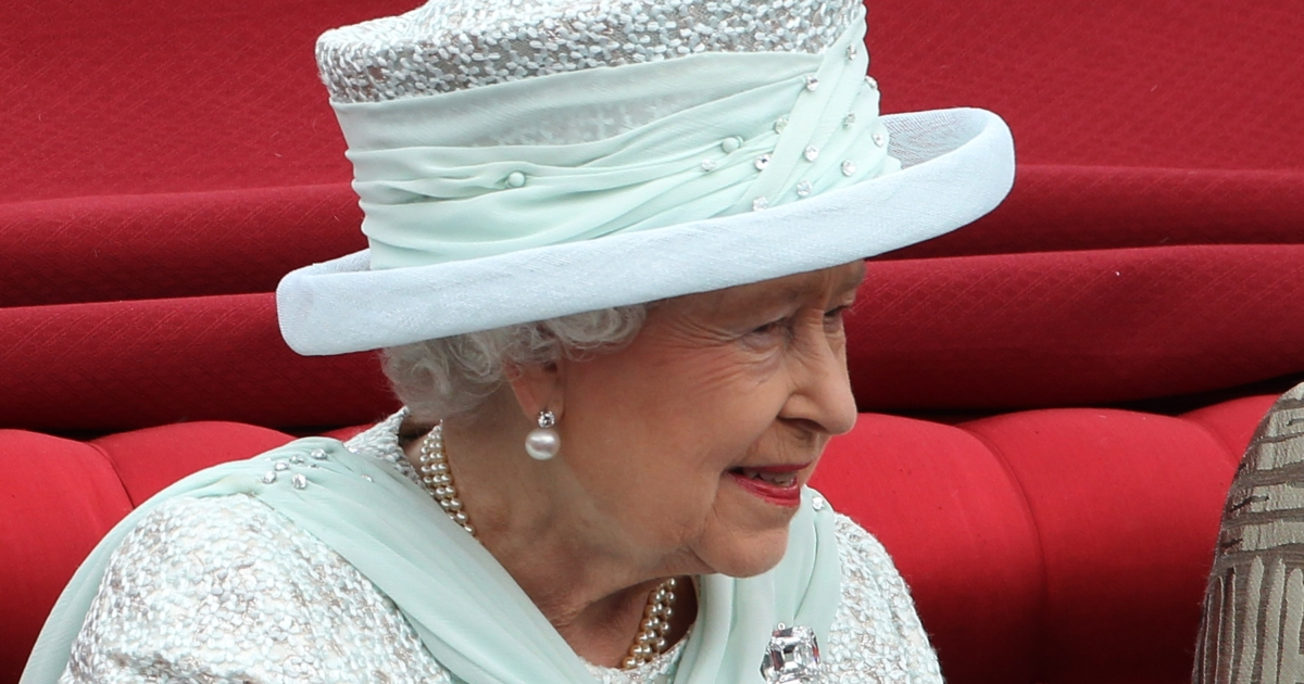 Queen Elizabeth II is seen during the Diamond Jubilee carriage procession after the service of thanksgiving at St.Paul's Cathedral on the Mall on June 5, 2012 in London, England. For only the second time in its history the UK celebrates the Diamond Jubilee of a monarch.</p>
