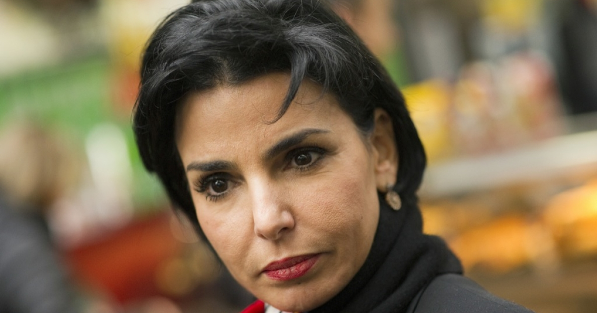 France's ruling party UMP deputy Rachida Dati is seen at Paris Gare du Nord train station before leaving for Lille, northern France, on February 23, 2012, for a campaign meeting of France's ruling party UMP candidate for the 2012 presidential election.</p>