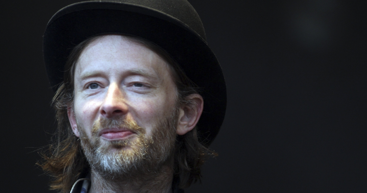 Thom Yorke of Radiohead performs at the Park Stage at the Glastonbury Festival site at Worthy Farm, Pilton on June 24, 2011 in Glastonbury, England. Radiohead recently launched an account on Sina Weibo, a microblogging service that is the Chinese equivalent of Twitter.</p>