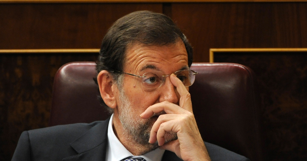 Mariano Rajoy, Spain's new Prime Minister, just before he addresses Parliament yesterday, looks like he's wondering what mess have I got myself into?</p>