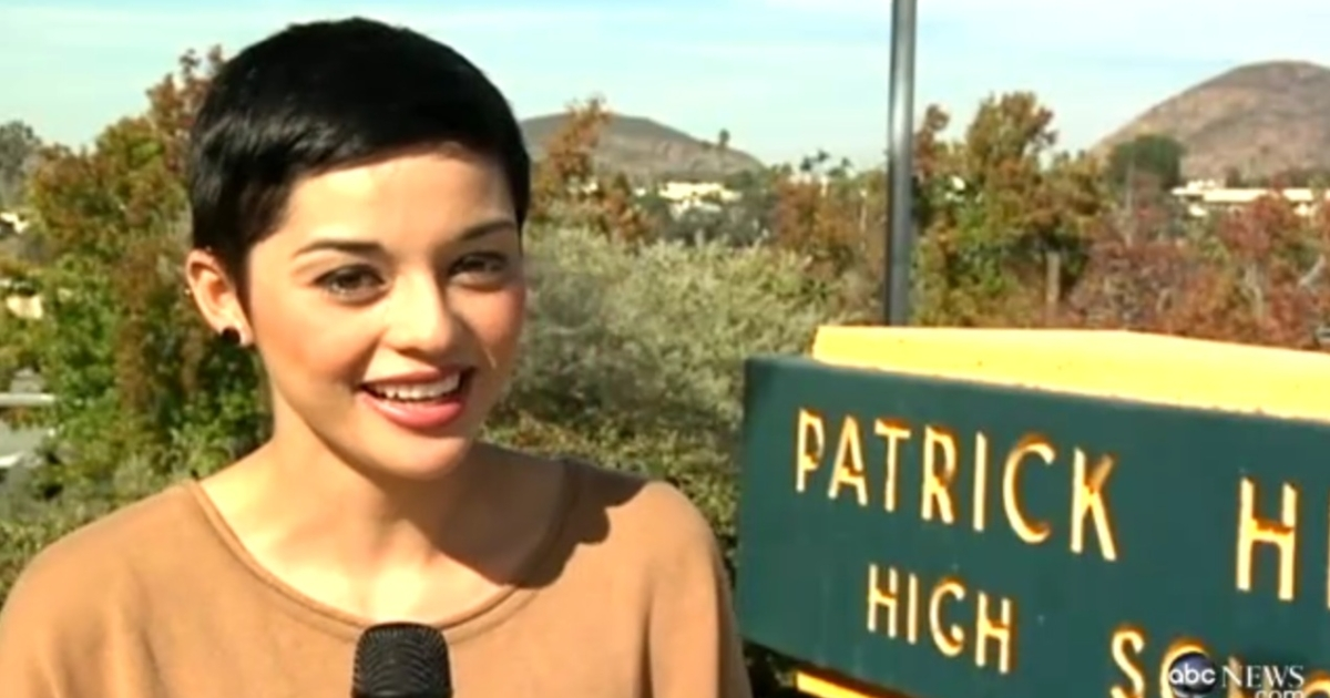 Rebeca Arellano, a senior at Patrick Henry High School in San Diego, Calif., was voted homecoming king this year.</p>