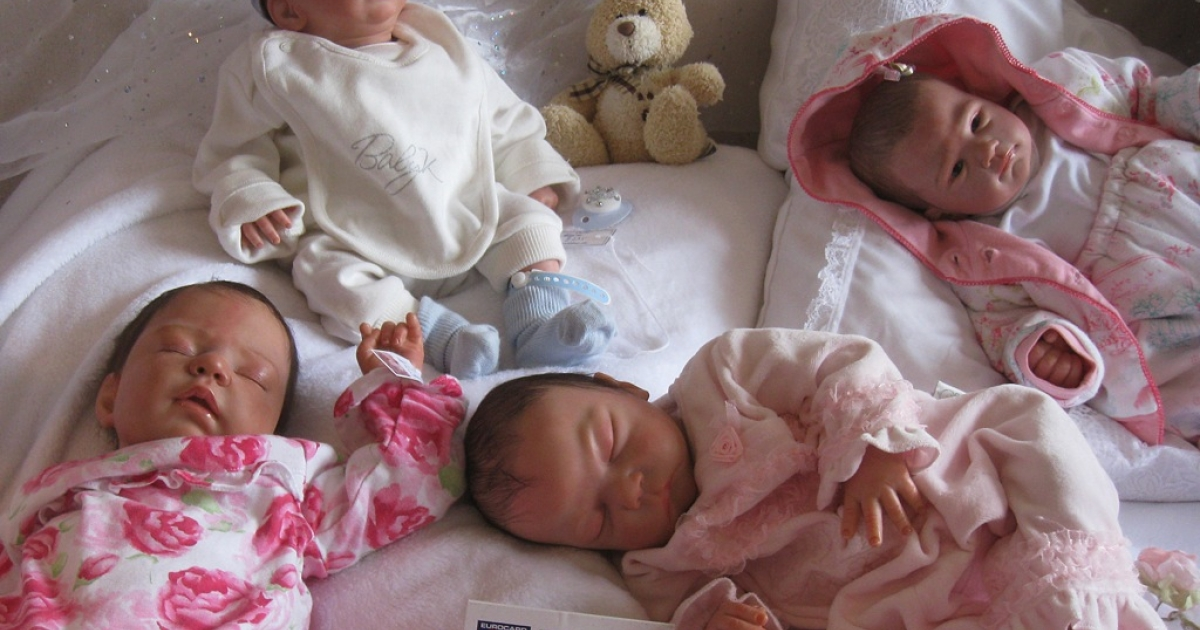 Winstone's reborns are so realistic, she was once stopped by police when she had four of them on the back seat.</p>