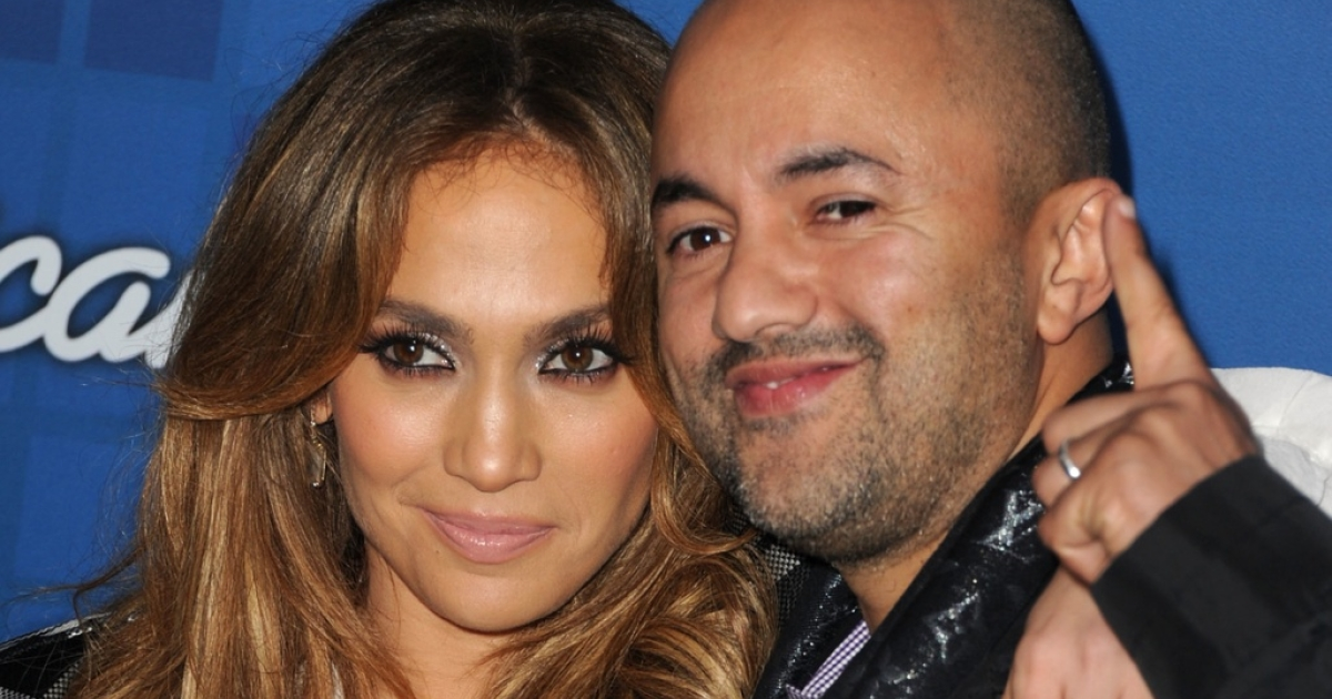 Moroccan music producer RedOne and Jennifer Lopez at the