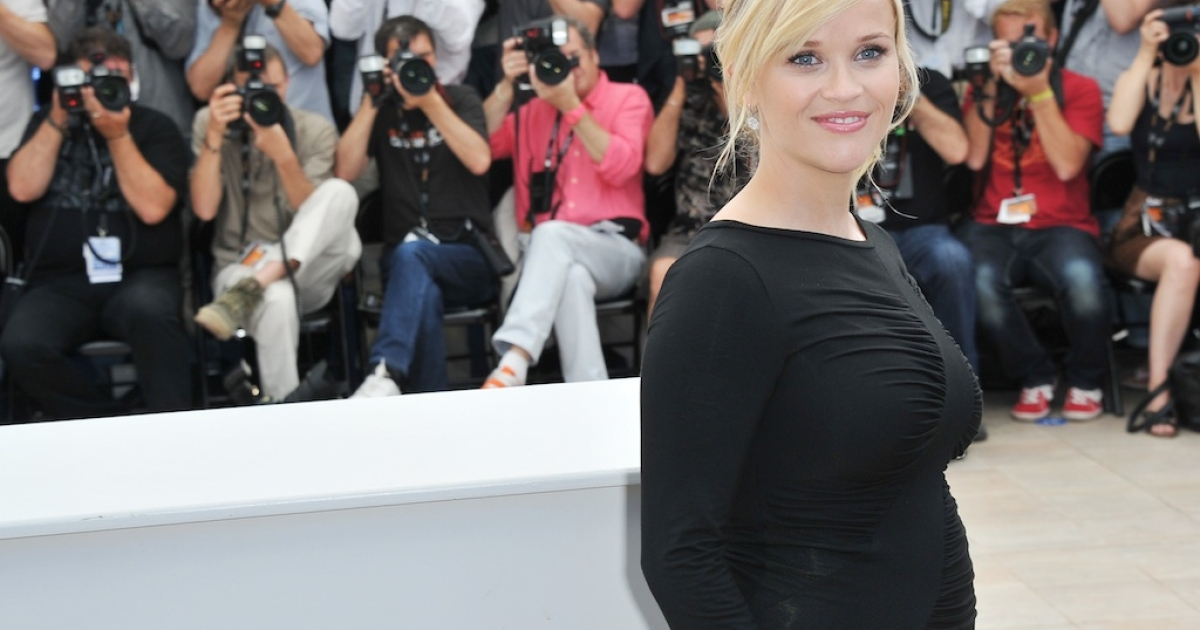 Reese Witherspoon strikes a pose at the Cannes Film Festival in France on May 26, 2012.</p>