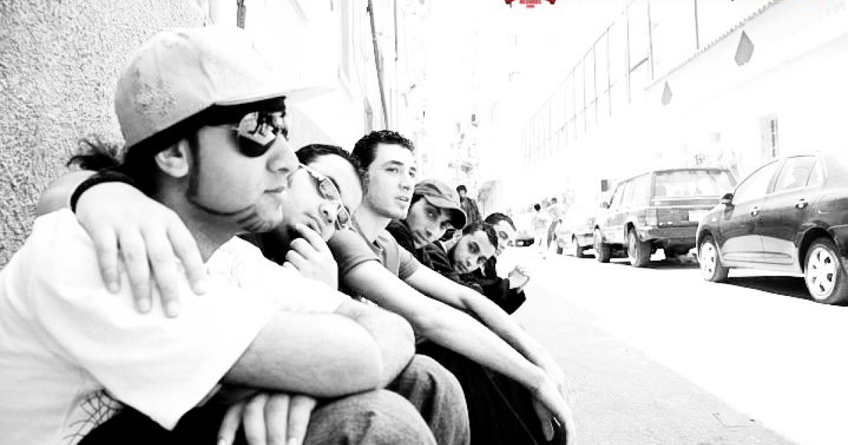 A promotional photo for the Egyptian hip-hop group Revolution Records.</p>