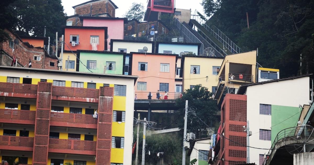 A favela in Rio, Brazil.</p>