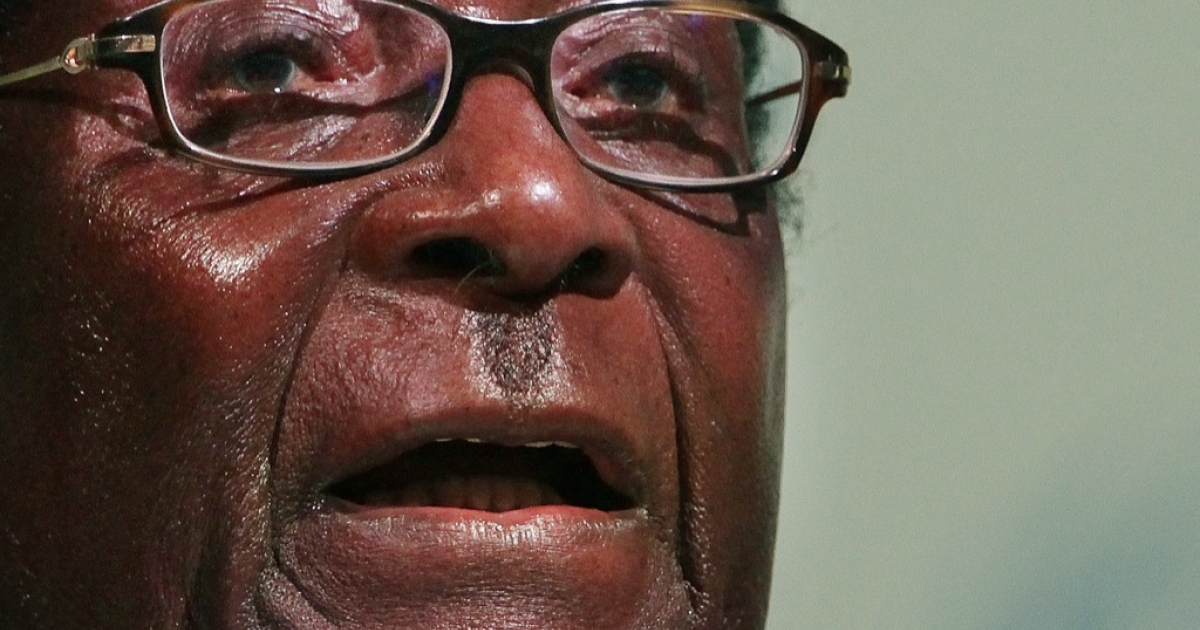 President Robert Mugabe of Zimbabwe in a pictured dated on Dec. 16, 2009.</p>