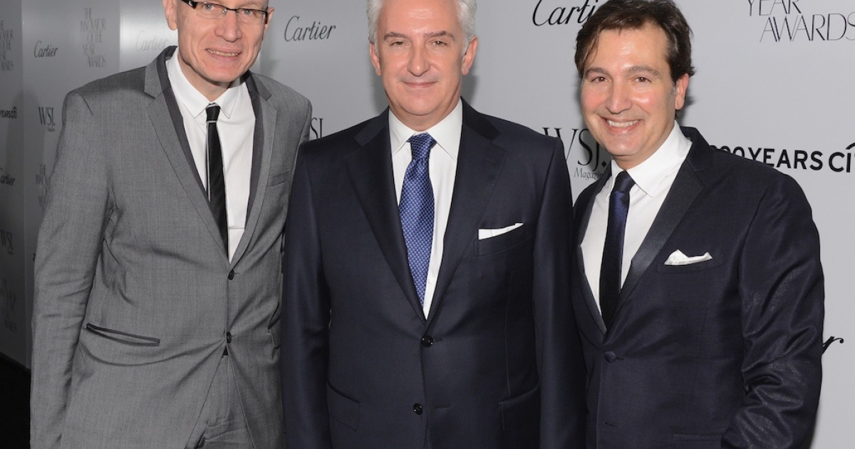 Robert Thomson, Patrick Kinmonth, and Publisher of WSJ magazine Anthony Cenname attend WSJ Magazine's 'Innovator Of The Year' Awards at MOMA on October 18, 2012 in New York City.</p>
