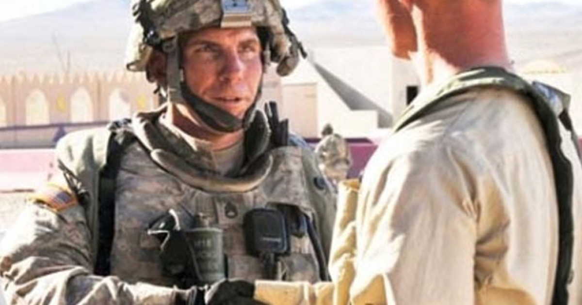 A man identified as Robert Bales appears in this Defense Department photograph published in High Desert Warrior, a publication at the National Training Center and Fort Irwin in California.</p>