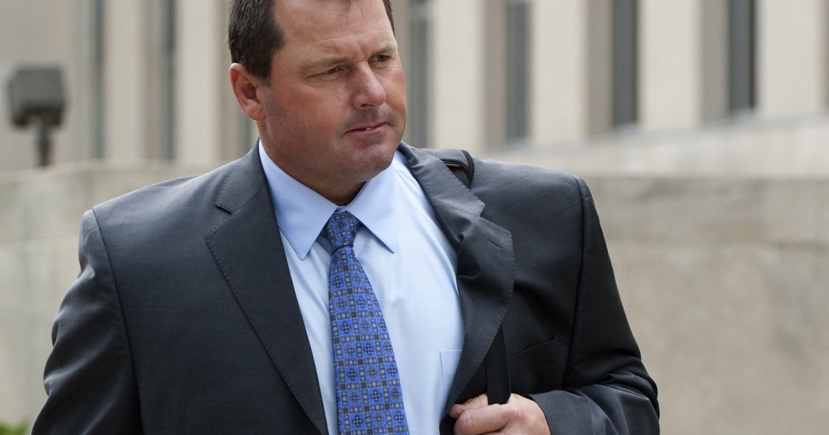 Former Major League Baseball pitcher Roger Clemens arrives for a hearing at U.S. District Court in Washington, DC, on Sept. 2, 2011. The hearing will decide whether the former Red Sox and Yankees pitcher should be retried after his original trial on perjury was declared a mistrial. Clemens is accused of one count of obstruction of Congress, three counts of making false statements and two counts of perjury, stemming from his 2008 testimony before Congress on the use of performance enhancing drugs.</p>