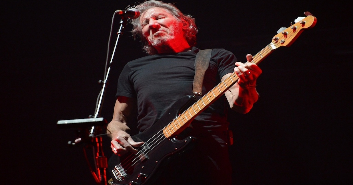 Musician Roger Waters performs at Yankee Stadium on July 6, 2012 in New York City.</p>