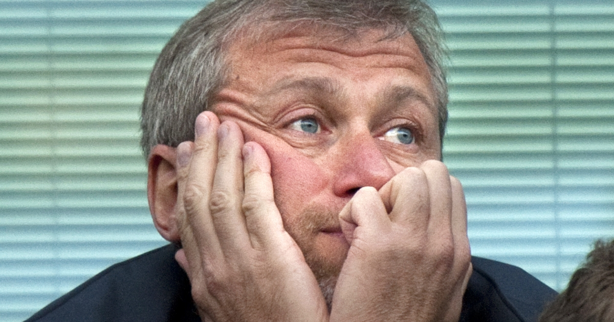 Chelsea owner Roman Abramovich at a recent Chelsea match.  You never see Vladimir Putin looking so miserable. Sport is so much more unpredictable than Russian politics.</p>