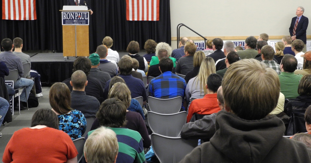 Texas congressman Ron Paul is leading in latest survey in Iowa.</p>
