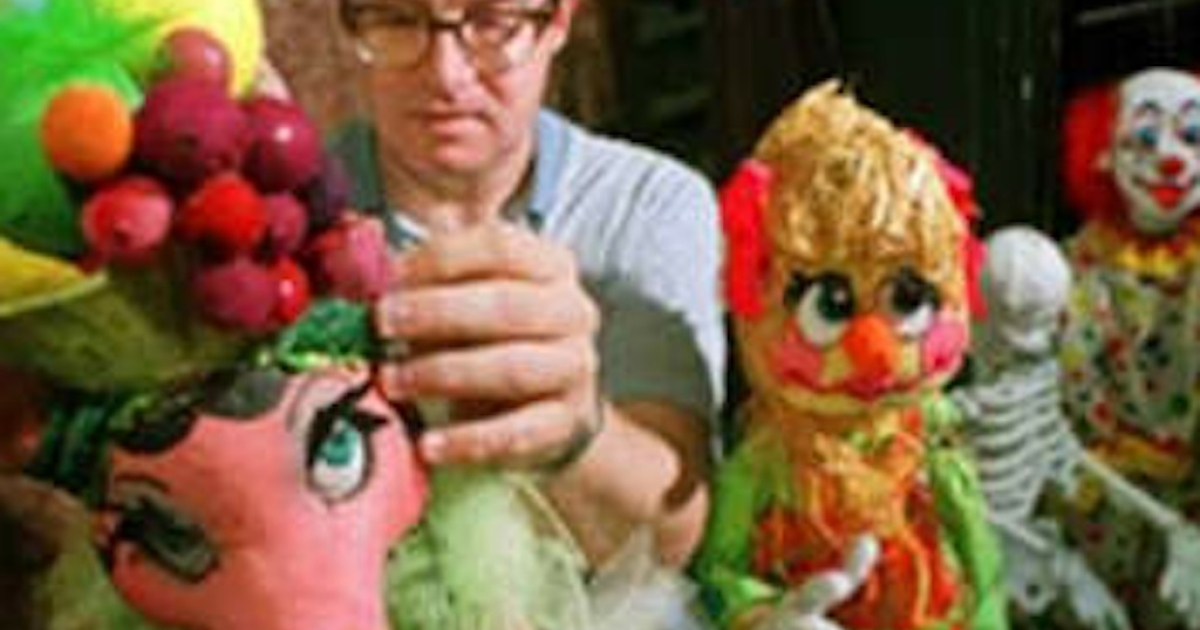 Florida puppeteer Ronald Brown has been accused of possessing child porn and is said to have plotted to kidnap, cook and eat children.</p>