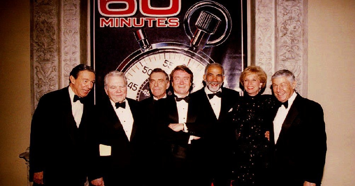 Andy Rooney was among the '60 Minutes' journalists who gathered at the Metropolitan Museum of Art in New York City on Nov. 10, 1993, to celebrate the 25th anniversary of the show. Left to right: Mike Wallace, Andy Rooney, Morley Safer, Steve Kroft, Ed Bradley, Leslie Stahl and Executive Producer Don Hewitt.</p>