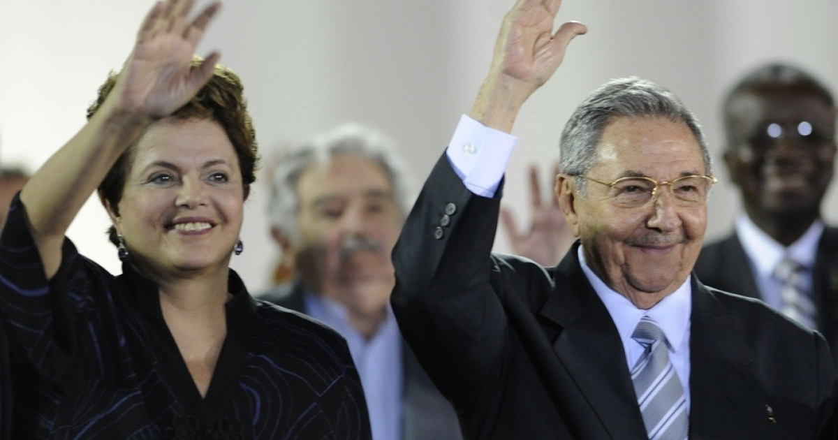 Rousseff's visit with Raul Castro, the Cuban president, was more economic than political.</p>