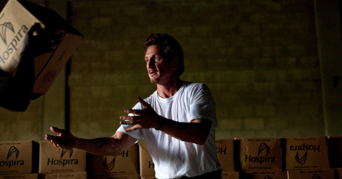 Sean Penn, actor and activist with an NGO operating in Haiti brings in supplies to fight cholera.</p>