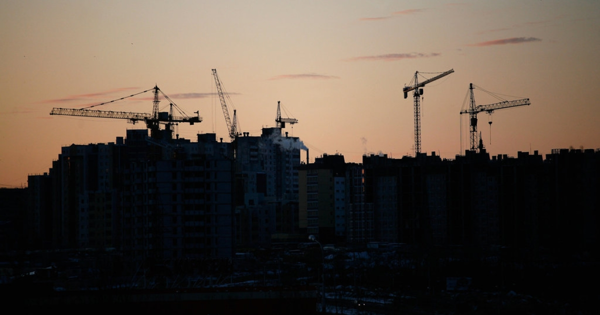 A general view over the city at sunset on November 16, 2011 in Volgograd, Russia. Volgograd, formerly Stalingrad, is one of thirteen proposed host cities as Russia prepares to host the 2018 FIFA World Cup.</p>