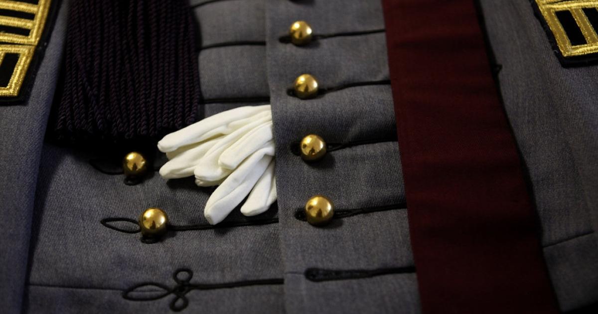 Dan Choi's West Point cadet uniform.</p>