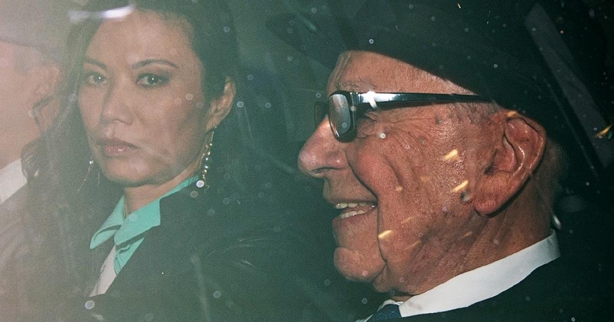 News Corp Chief Rupert Murdoch, with his wife, Wendi Deng.</p>