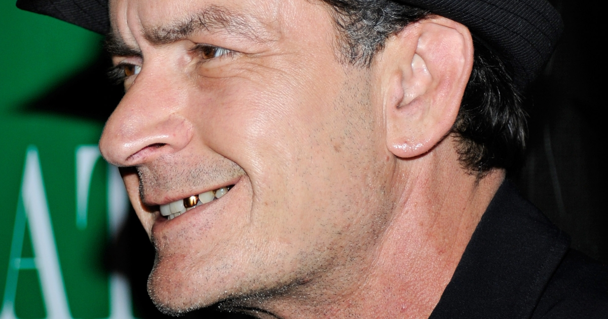 Charlie Sheen: Picture of health ... in Russia.</p>