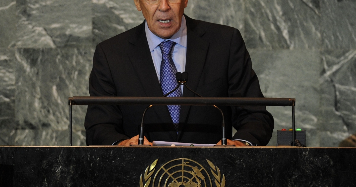Russia's Foreign Minister Sergei Lavrov warned the West against any military strikes against Iran.</p>
