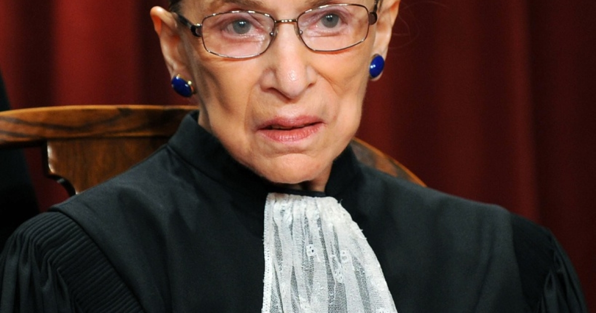 US Supreme Court Justice Ruth Bader Ginsburg participates in the courts official photo session on October 8, 2010, at the Supreme Court in Washington, DC. Ginsburg underwent surgery related to pancreatic cancer in 2009.</p>