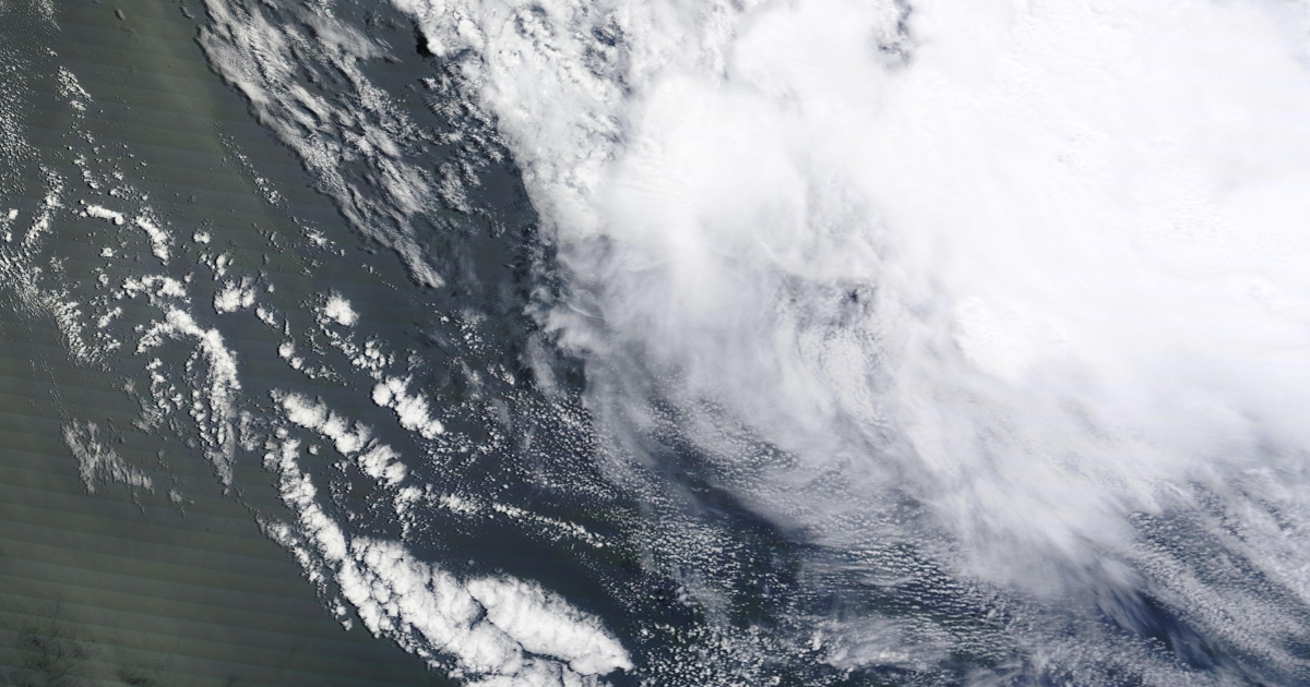 A giant ocean eddy off the coast of South Africa is captured by NASA photos on December 26, 2011.</p>
