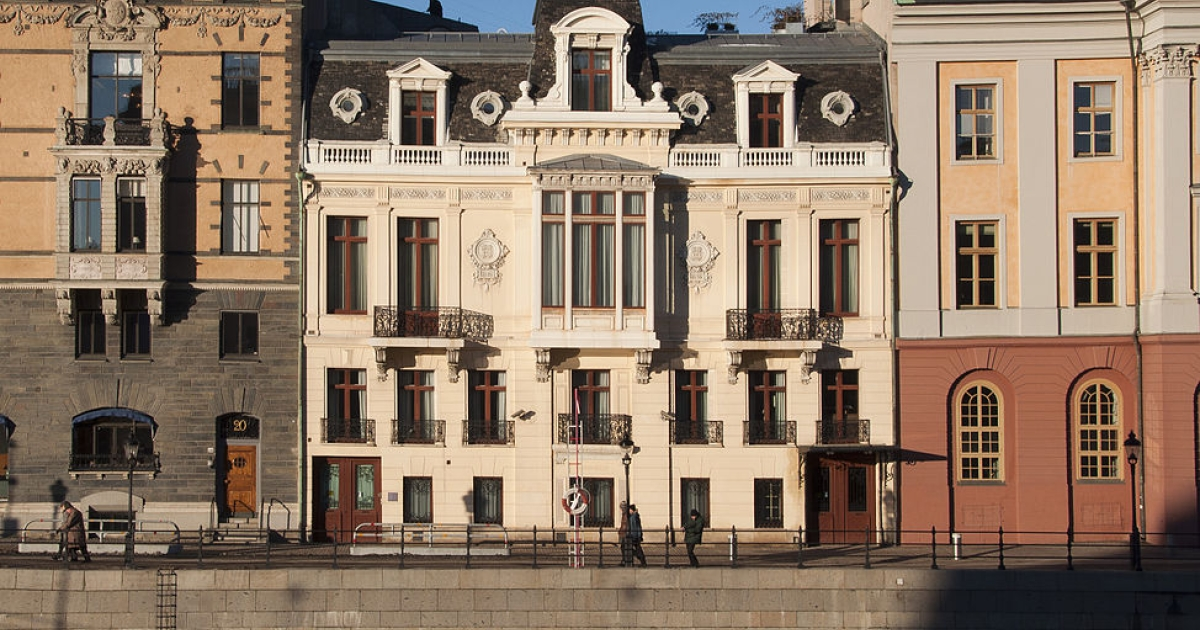 The Sagerska Palatset, the residence of the Swedish Prime Minister and his family in Stockholm.</p>